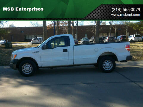 2013 Ford F-150 for sale at MSB Enterprises in Fenton MO