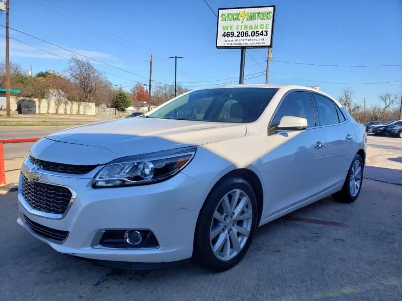 2015 Chevrolet Malibu for sale at Shock Motors in Garland TX