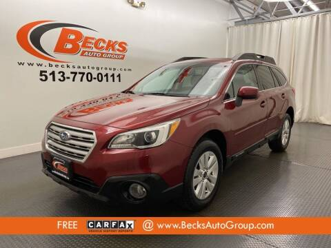 2016 Subaru Outback for sale at Becks Auto Group in Mason OH