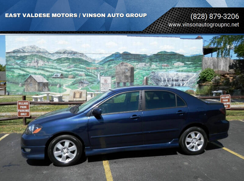 2006 Toyota Corolla for sale at EAST VALDESE MOTORS / VINSON AUTO GROUP in Valdese NC