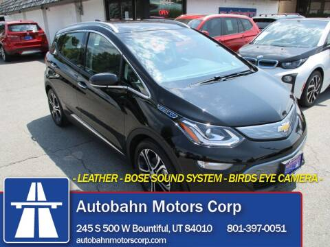 2018 Chevrolet Bolt EV for sale at Autobahn Motors Corp in Bountiful UT