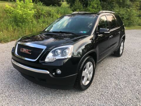 2010 GMC Acadia for sale at R.A. Auto Sales in East Liverpool OH