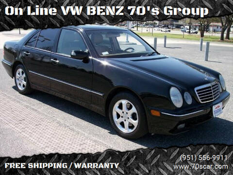 2002 Mercedes-Benz E-Class for sale at OnLine VW-BENZ.COM Auto Group in Riverside CA