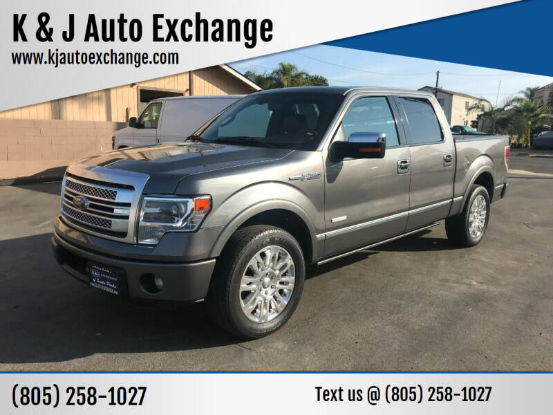 2013 Ford F-150 for sale at K & J Auto Exchange in Santa Paula CA