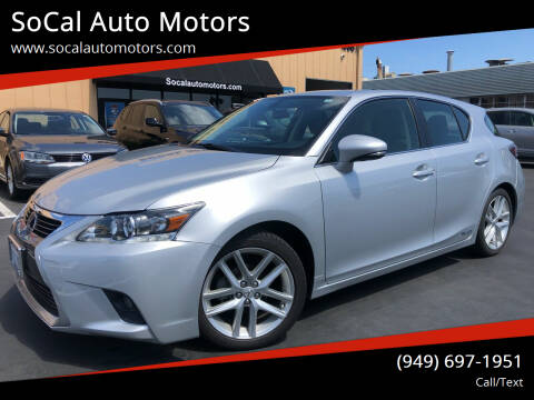 2015 Lexus CT 200h for sale at SoCal Auto Motors in Costa Mesa CA