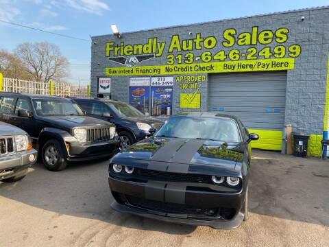 2016 Dodge Challenger for sale at Friendly Auto Sales in Detroit MI