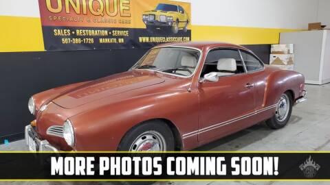 1969 Volkswagen Karmann Ghia for sale at UNIQUE SPECIALTY & CLASSICS in Mankato MN