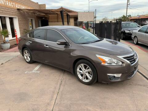 2014 Nissan Altima for sale at CONTRACT AUTOMOTIVE in Las Vegas NV