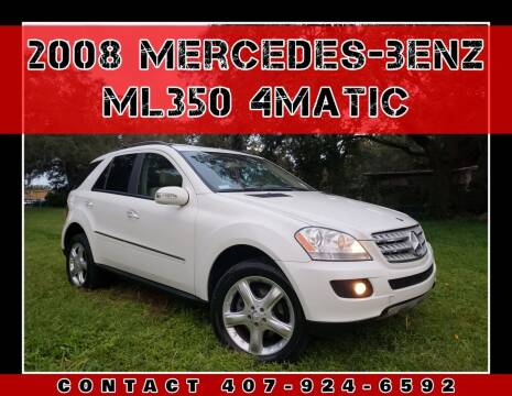 2008 Mercedes-Benz M-Class for sale at AFFORDABLE ONE LLC in Orlando FL