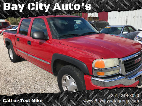 2005 GMC Sierra 1500 for sale at Bay City Auto's in Mobile AL