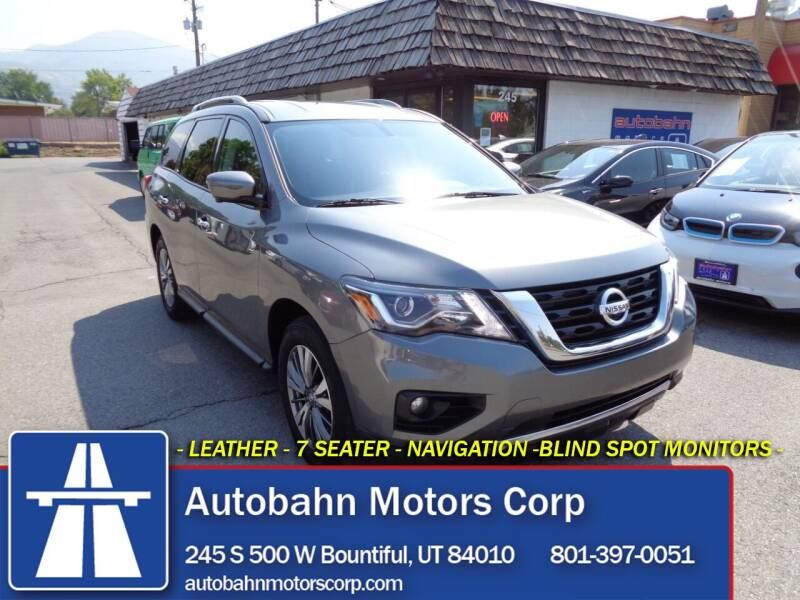 2020 Nissan Pathfinder for sale at Autobahn Motors Corp in Bountiful UT