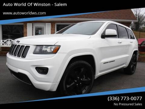 2014 Jeep Grand Cherokee for sale at Auto World Of Winston - Salem in Winston Salem NC