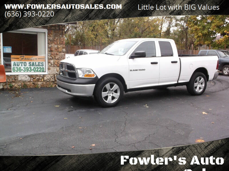 2011 RAM Ram Pickup 1500 for sale at Fowler's Auto Sales in Pacific MO