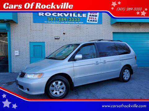 2004 Honda Odyssey for sale at Cars Of Rockville in Rockville MD