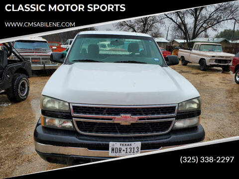 2007 Chevrolet C/K 1500 Series for sale at CLASSIC MOTOR SPORTS in Winters TX