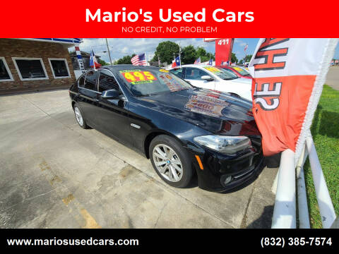 2015 BMW 5 Series for sale at Mario's Used Cars - South Houston Location in South Houston TX