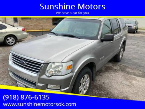 2008 Ford Explorer for sale at Sunshine Motors in Bartlesville OK