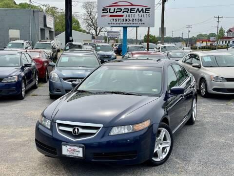 2006 Acura TL for sale at Supreme Auto Sales in Chesapeake VA