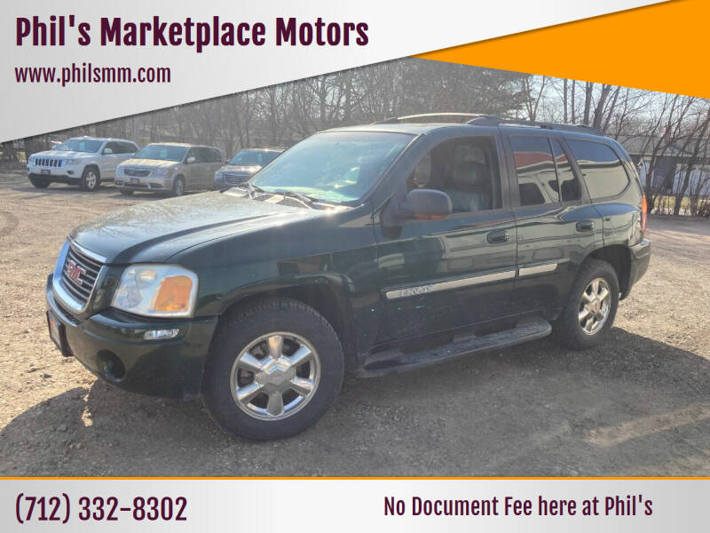 2002 GMC Envoy for sale at Phil's Marketplace Motors in Arnolds Park IA