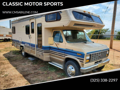 1988 Ford Motorhome Chassis for sale at CLASSIC MOTOR SPORTS in Winters TX