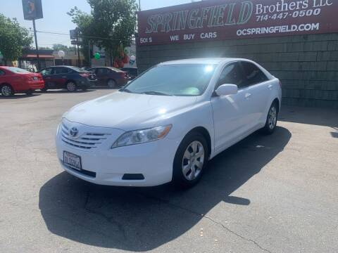 2009 Toyota Camry for sale at SPRINGFIELD BROTHERS LLC in Fullerton CA