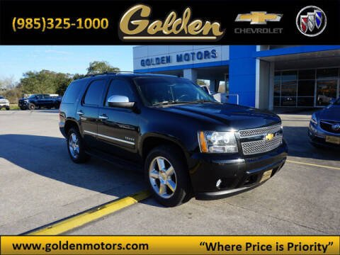 2013 Chevrolet Tahoe for sale at GOLDEN MOTORS in Cut Off LA