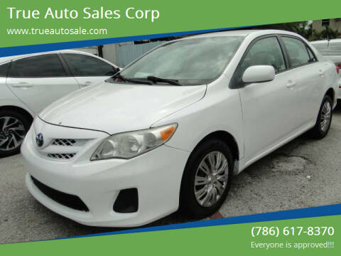 2011 Toyota Corolla for sale at True Auto Sales Corp in Miami FL