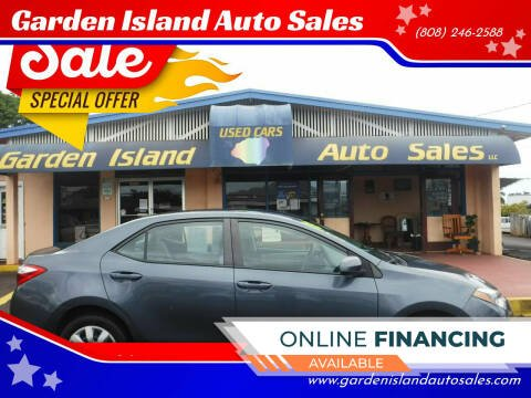 2015 Toyota Corolla for sale at Garden Island Auto Sales in Lihue HI