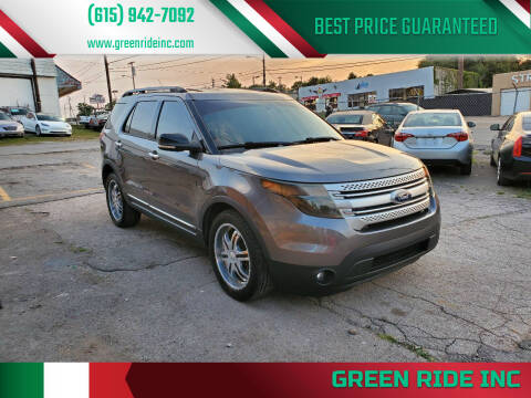 2013 Ford Explorer for sale at Green Ride Inc in Nashville TN