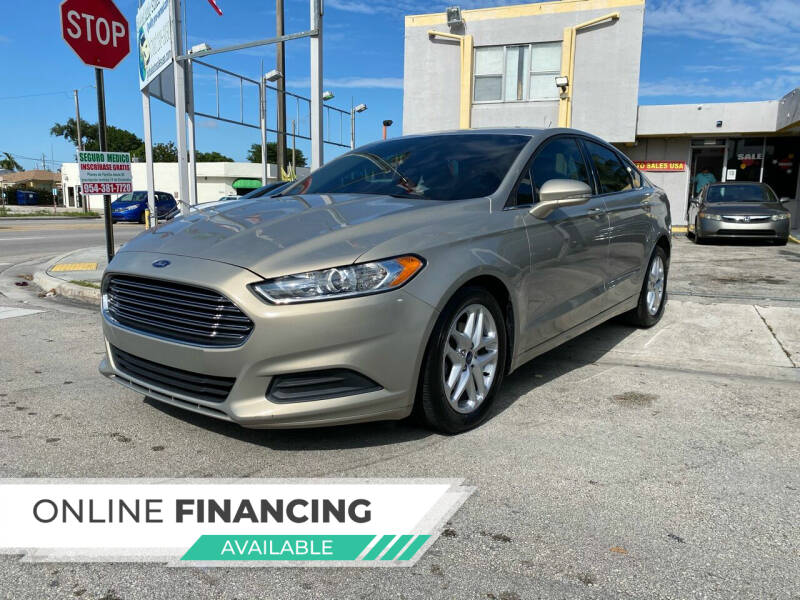 2015 Ford Fusion for sale at Global Auto Sales USA in Miami FL