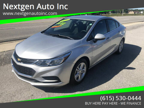 2017 Chevrolet Cruze for sale at Nextgen Auto Inc in Smithville TN