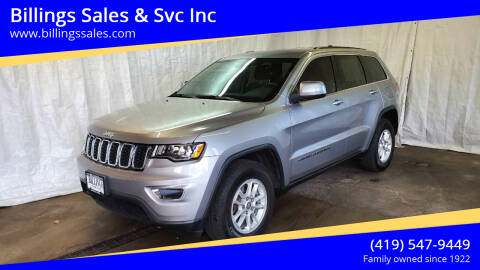 2019 Jeep Grand Cherokee for sale at Billings Sales & Svc Inc in Clyde OH