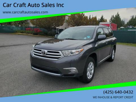 2012 Toyota Highlander for sale at Car Craft Auto Sales Inc in Lynnwood WA
