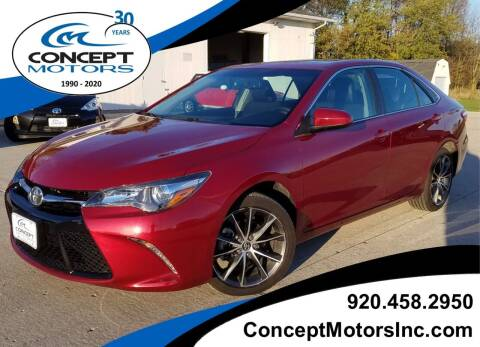 2015 Toyota Camry for sale at CONCEPT MOTORS INC in Sheboygan WI