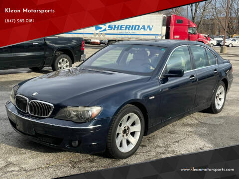 2006 BMW 7 Series for sale at Klean Motorsports in Skokie IL