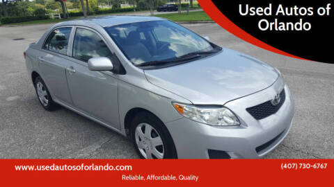 2009 Toyota Corolla for sale at Used Autos of Orlando in Orlando FL