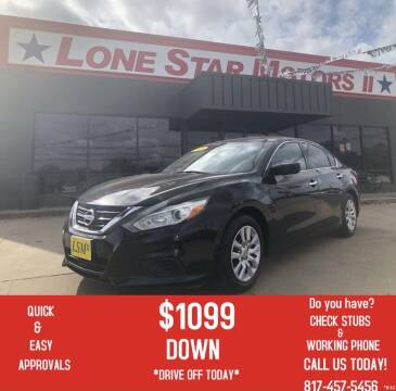 2016 Nissan Altima for sale at LONE STAR MOTORS II in Fort Worth TX