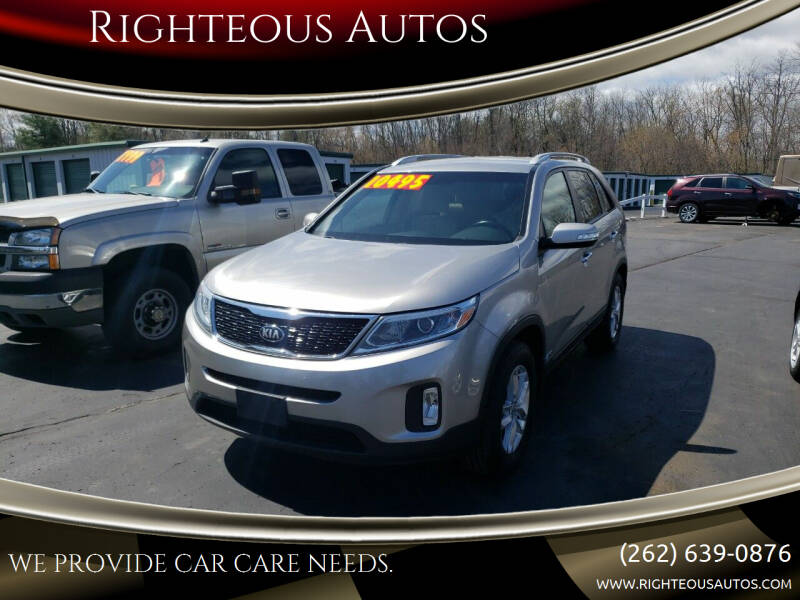 2014 Kia Sorento for sale at Righteous Autos in Racine WI