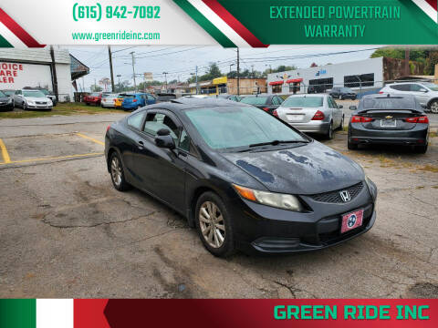 2012 Honda Civic for sale at Green Ride Inc in Nashville TN