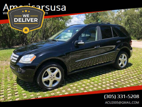 2008 Mercedes-Benz M-Class for sale at Americarsusa in Hollywood FL