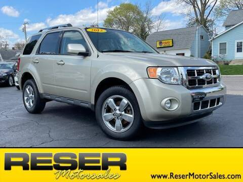 2012 Ford Escape for sale at Reser Motorsales in Urbana OH