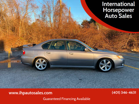 2008 Subaru Legacy for sale at International Horsepower Auto Sales in Warwick RI