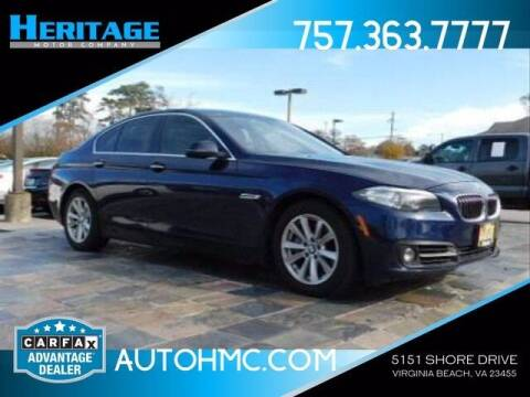 2015 BMW 5 Series for sale at Heritage Motor Company in Virginia Beach VA