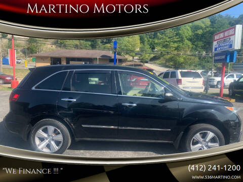 2012 Acura MDX for sale at Martino Motors in Pittsburgh PA