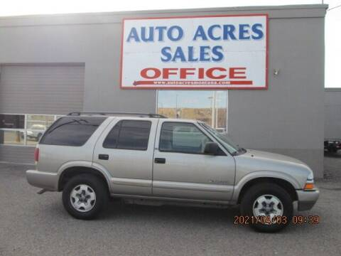 2002 Chevrolet Blazer for sale at Auto Acres in Billings MT