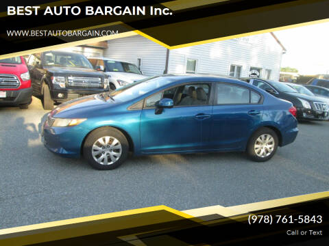 2012 Honda Civic for sale at BEST AUTO BARGAIN inc. in Lowell MA