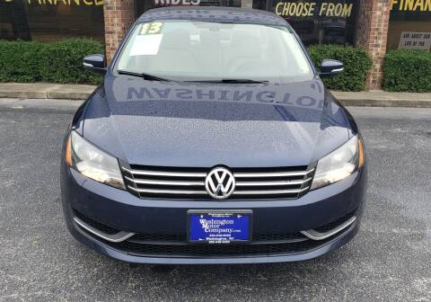 2013 Volkswagen Passat for sale at Washington Motor Company in Washington NC