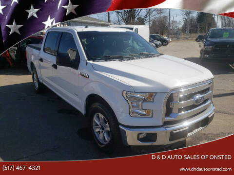 2016 Ford F-150 for sale at D & D Auto Sales Of Onsted in Onsted   Brooklyn MI