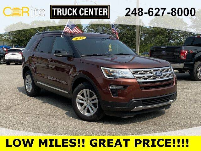 2018 Ford Explorer for sale at Carite Truck Center in Ortonville MI