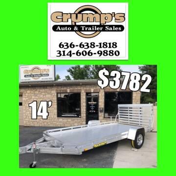 2021 Aluma 14' Aluminum Utility Trailer for sale at CRUMP'S AUTO & TRAILER SALES in Crystal City MO